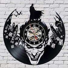 Dark Knight Joker Batman Movie _Exclusive wall clock made of vinyl record_GIFT