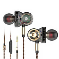 6 Unit Driver Earphone Wired HIFI Super Bass Sport Headphone Headset Earbuds Mic