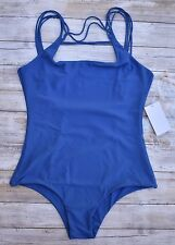 MIKOH SWIMWEAR ATHENS FRONT STRING OPEN BACK ONE PIECE SWIMSUIT (XL) NWT $218