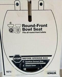 "Kohler K-4639-0 Cachet Round Front Bowl White Toilet Seat, 16 5/8"" New in Box"