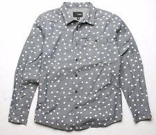 Hurley Polka Dots Long Sleeve Shirt (Grey) M