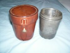 New listing James Dixon And Sons English Pewter Stacking Stirrup Cup Set With Leather Case