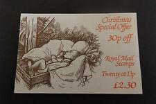 GB Folded Stamp Booklet FX7 1984 Christmas Underprinted 1267Eu