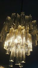 Mid 1970's Vintage 3 / 5 Tier Camer Murano Venini Glass chandelier - 47 crystals
