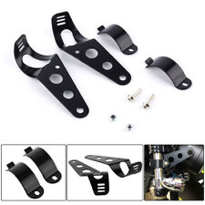 Motorcycle Motorbike Headlight Mount Bracket For 34mm-50mm Fork Tubes Harley BMW