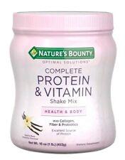 Nature's Bounty Complete Protein Shake Mix - Vanilla (16 oz) Damaged bottle