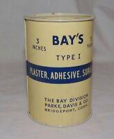 Vintage 1950 Bays Adhesive Plaster Surgical Medical Tin