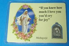 MEDUGORJE RELIOUS MEDAL CATHOLIC DEVOTIONAL If you knew how much I love you READ