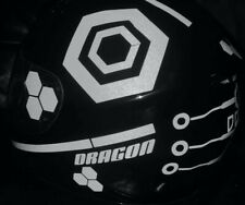TRON STYLE HELMET STICKERS REFLECTIVE DECALS BE SEEN HI VIZ MOTORCYCLE HEXAGON W