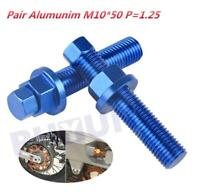 Pair Rear Axle Blocks Chain Adjuster Bolt For KTM 85 125 150 250 350 450 530