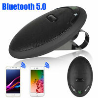 Wireless Bluetooth V5.0 Car Speaker Handsfree Speaker Sun Visor for Cell Phone