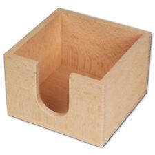 Hofmeister Zettelbox mit Entnahmeöffnung Buchenholz 10,5cm Zettelklotz Postit