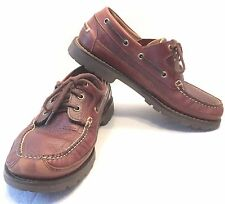 LL BEAN MEN'S DARK BROWN LOAFERS MOCCASINS CASUAL BOAT SHOES SIZE 8/12 - EUC