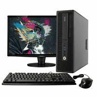 """HP Intel QUAD i5 16GB 2TB HD 512GB SSD 22"""" LCD Windows 10 Desktop Computer"""
