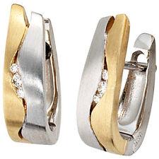 Echte-Ohrschmuck für Damen mit Reinheit VVS1 Schnappverschluss