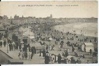 CPA 85 - LES SABLES-D'OLONNE - La plage a marée montante