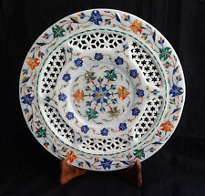 Decorative Marble Inlay Plate Pietra Dura Inlay Art Handmade Home Decor & Gifts