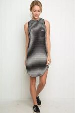 SUper reare! brandy melvlle black/white striped pocket tank shirtdress top OS