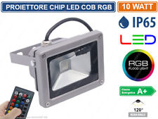 FARO PROIETTORE LED 10W RGB MULTICOLORE DA ESTERNO IP65 TELECOMANDO INFRAROSSI