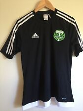 ADIDAS MLS Portland TIMBERS CLIMALITE Black Sport Shirt S Small Embroidered PDX