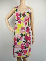 Basque Floral Office Career Party Sleeveless Dress / Size  14