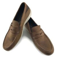 RockPort Aiden Brown Leather Slip Resistant Penny Loafer Mens US 12 CG9114