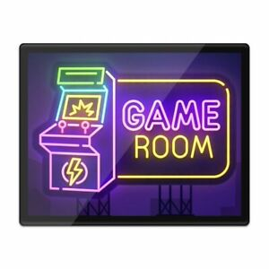 Placemat Mousemat 8x10 - Retro Game Room Arcade Sign  #14767