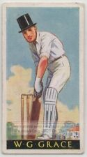W. G. Grace English Amateur Cricketer Bowler Wickets Champion 1930s Trade Card