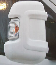 Milenco White Mirror Protectors Guards Pair Motorhome Citreon Fiat Peugeot Short