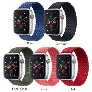 Geflochtenes Sport Armband passend für Apple Watch 123456 SE Strech
