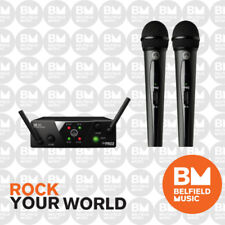 AKG WMS40 Mini Wireless Microphone System Dual Vocal Set Band A/C - WMS-40 - BM