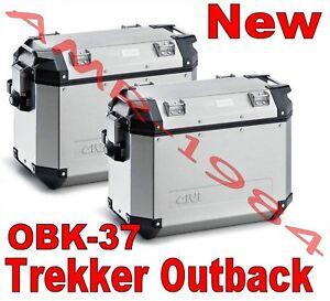 GIVI TREKKER OUTBACK 37 ALLUMINIO LITRI 37 DX + SX OBK37 A PACK2 COPPIA VALIGIE