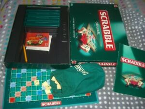 Scrabble Original, Mattel 1999 Version, complete