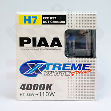 PIAA H7 4000K XTREME WHITE PLUS Halogen Headlight Bulbs 12V 55W=110W Pair