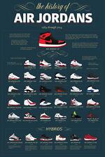 "TY02675 Michael Jordan Nike Air Jordan Brand Hot Canvas Big 14""x21"" Poster"