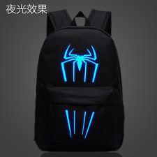 Summer Anime Spider-Man Luminous Backpack Schoolbag Outdoor Rucksack Travel Bag
