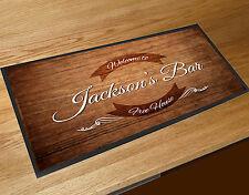 Personalizzato effetto legno etichetta curvo bar runner Birra tappetino Pub &