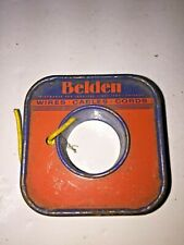 Belden 8529 25 20 Stranded Solid Hook Up Wire Type Mw Yellow Partial Roll