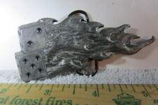 Belt Buckle Vintage Monster Buckles Flaming Dice