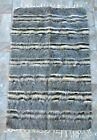 "Vintage Hand Woven Turkish Mohair Wool Kilim Shag Rug 31""x48"" Brown Gray Beige"