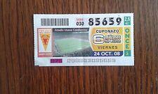 cupón de la once 24-10-08 centenario del Real Murcia.