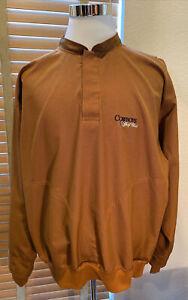 ZERO RESTRICTION 1/4 Snap Cowboys Golf Club Golf Wind Rain Jacket Size L  P13266