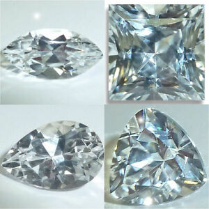 Natural Sapphire White Marquise,Pear,Trillion,Square,Oval Loose Gems Fine AA+
