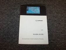 2011 Lexus RX450h & RX350 Navigation System Owner Owner's Operator Guide Manual