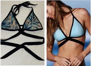 PINK Victoria's Secret Women's Tropical Triangle Wrap Bikini Top ~ Size M