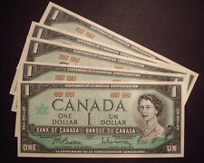 B - 5 x Canada 1867 - 1967 BC-45a $1 Notes