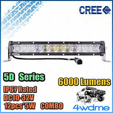 13inch 60W SLIM CREE LED Light Bar Work COMBO Beam High Intensity 5D Series
