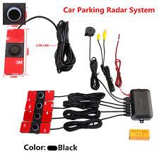 Parking 4 Sensors Car Reverse Backup Kit Rear Buzzer Radar System Sound Alarm