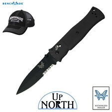 Benchmade 530SBK Pardue AXIS Knife 154cm Serrated BK Spear-Point Blade FREE HAT