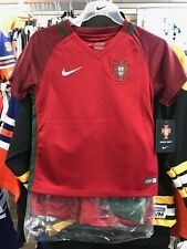 Team Portugal International Soccer Child Kids Kit Jersey Shorts Socks Set Large